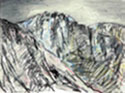 Snowdon from Glyder Fach by painter Peter Bishop